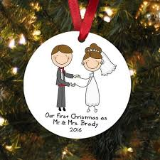 our as mr mrs ornament personalized wedding