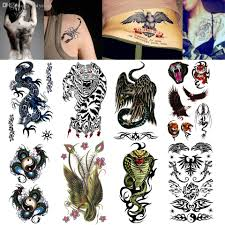 wholesale body art fake tattoo wild beast tiger temporary tattoo