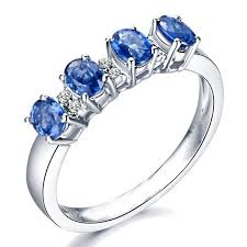 beautiful diamond rings images Beautiful sapphire and diamond engagement ring on 18k white gold jpg