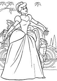 princess singing at the flower garden in princesses coloring pages