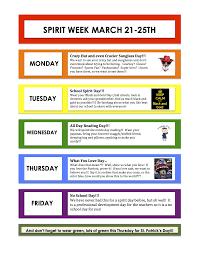 spirit week march 21st 25th swan u0027s island elementary