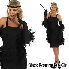 Gangster Costumes Halloween 20s Fancy Dress Mens Ladies 1920s Gangster Costume Womens