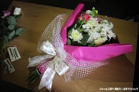 bouquet arrangements happy thoughts forget me nots flower arrangement pink