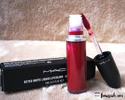 Mac Makeup Indonesia review m a c cosmetics retro matte liquid lipcolour to matte with