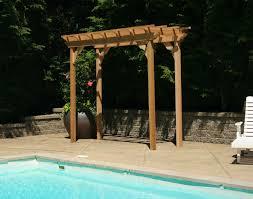 Pool With Pergola by Wood Pergolas Perfect Arbors