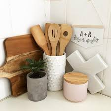 Kitchen Utensil Holder Ideas Custom Initial Mini Banner Kitchen Styling Kmart Styling Kmart