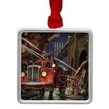 Fire Trucks Decorated For Christmas Fire Truck Ornaments U0026 Keepsake Ornaments Zazzle