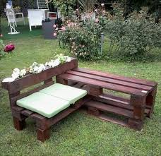 how to make a wooden garden bench creative idea backyard design with l shaped brown pallet wood