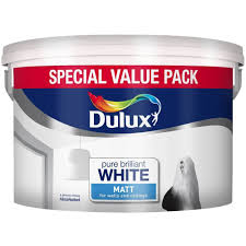 dulux matt paint 6 l pure brilliant white amazon co uk diy