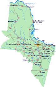 map of oregon portland portland area map go northwest a travel guide