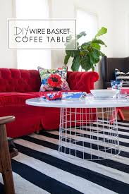the makerista wire basket coffee table diy target playroom red