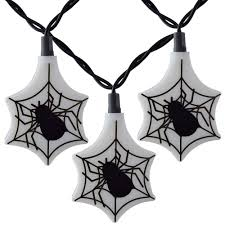 halloween spider web party string lights