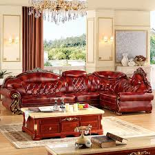 Big Leather Sofas L Shape Leather 3 6 Meter L Shape Antique Sofa For Big House Any