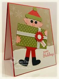 make a christmas card punch easy christmas card to make punch elves and
