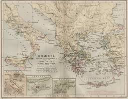Greek Map A Group Of Maps Of The Ancient Superpower Of Greece