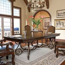 wrought iron dining room table parchment 120 dining table wrought iron iron and metals