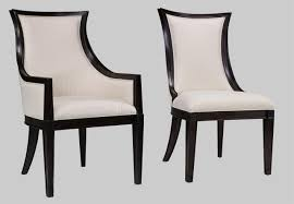 ebonized transitional upholstered back dining chairs