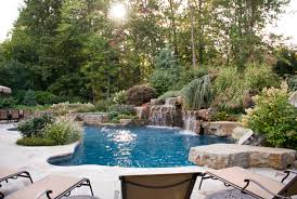 Custom Backyards Backyard Swimming Pools Waterfalls U0026 Natural Landscaping Nj