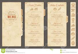 vintage vector restaurant menu template stock vector image 61174025
