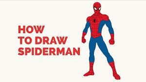draw spiderman easy step step drawing tutorial