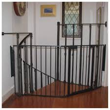 Baby Gate For Banister Stairs Retractable Safety Gates For Stairs Latest Door U0026 Stair Design