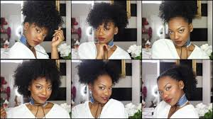 wash and go hairstyles 6 hairstyles on old wash n go hair quick easy youtube