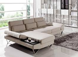 soft fabric sectional sofa with built in end table vg208 fabric