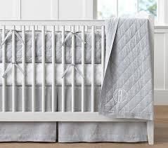 rabbit crib bedding belgian flax linen baby bedding pottery barn kids