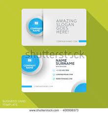 Flat Design Business Card Modern Creative Business Card Template Flat Stock Vector 400996573