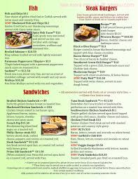 online menu of garfield u0027s restaurant restaurant grand junction