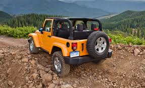 orange jeep wrangler jeep tricks wrangler gets five new colors adds special edition
