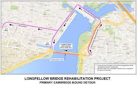 Boston Mbta Map Upcoming Longfellow Bridge Mbta And Vehicle Diversion Public