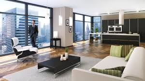 comely modern houses interior design with brown fabric sofa and
