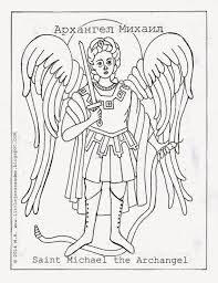 st michael coloring page laura williams