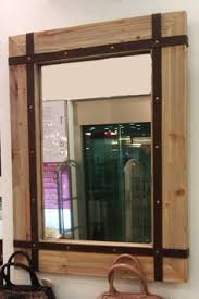 Wood Framed Mirrors For Bathroom by Wooden Wood Mirror With Shelf Handmade Reclaimed Wood Pine
