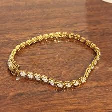 kay jewelers diamond jewelers genuine 3 carat diamond 925 gold vermeil tennis bracelet