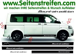 volkswagen bus art vw bus t4 t5 mountain edition version n 2 seitenstreifen aufkleber
