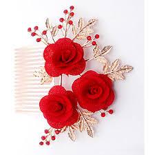 hair brooch design jewelmaze austrian floral design gold plated hair brooch