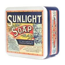 sunlight soap square storage tin retro vintage metal kitchen