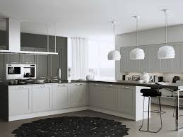 cuisine blanche grise cuisine blanche et grise cuisine blanche et plan de travail bois