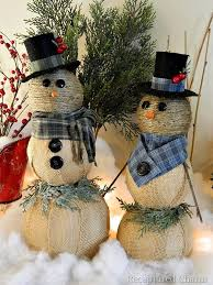 Home Decor With Burlap 10 Simple Snowmen Ideas For Your Holiday Décor