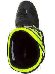 alpinestars black fluorescent yellow tech seven s kids mx boot