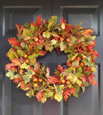 etsy thanksgiving decorations fall leaves wreath fall wreath thanksgiving decor fall decor