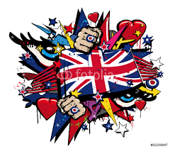 graffiti uk flag pop art illustration wall sticker wall stickers