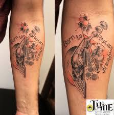 geometrical bones forearm tattoo custom tattoo for a orthopedic