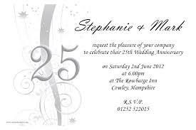 25th wedding anniversary invitations lilbibby com