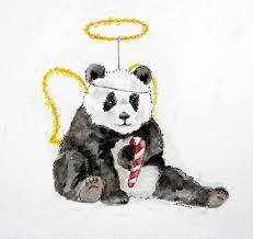 christmas panda gif