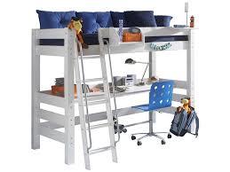 Kiefer Schreibtisch Dolphin Hochbett Weiß Mit Schräger Leiter Und Schreibtisch