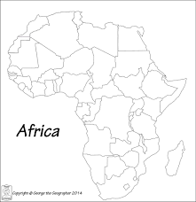 Blank Map Of Africa Quiz by Outline Base Maps
