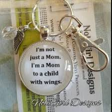 child with wings key chain child lose memorial keepsake